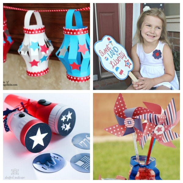 crafts for kids that are red,white and blue