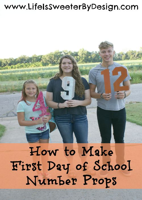 How to Make First Day of School Number Props