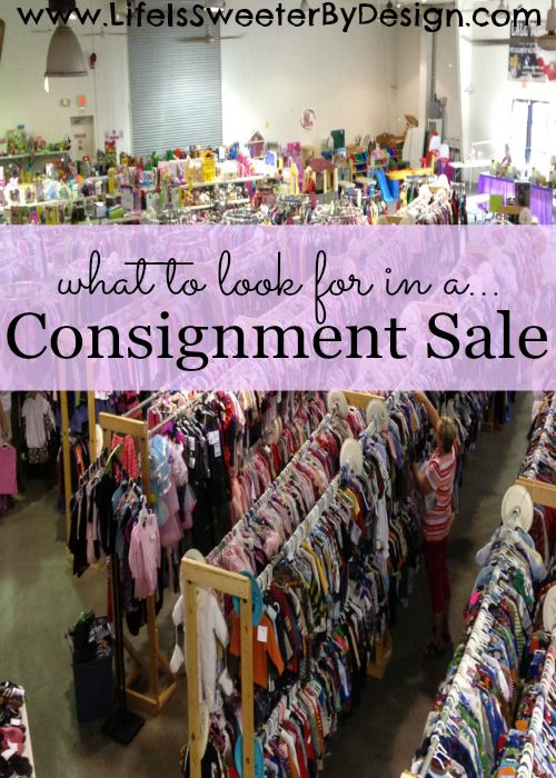 What to Look for in a Consignment Sale