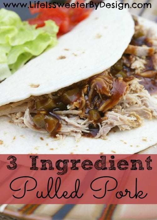 3 Ingredient Pulled Pork
