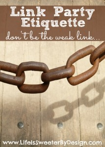 Important Link Party Etiquette Tips for Bloggers