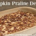 pumpkin praline dessert