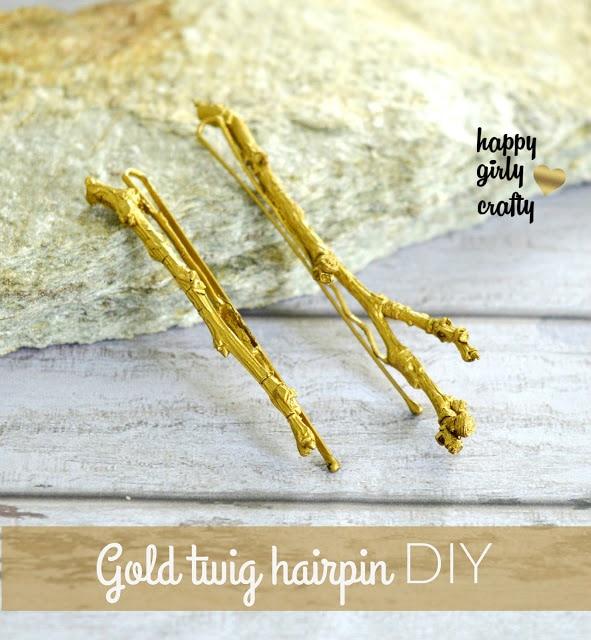 Twig Hairpin DIY