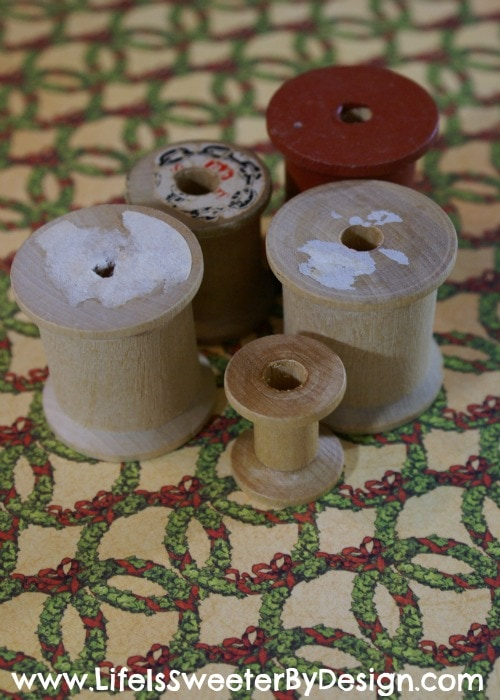 Wooden Spool Ornament