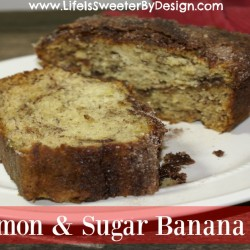 Cinnamon and Sugar Banana Bread