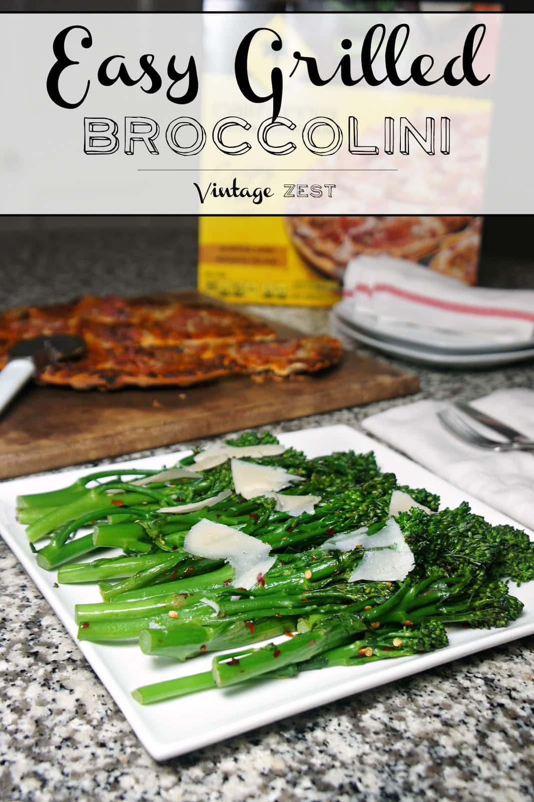 Easy Grilled Broccolini Recipe on Diane's Vintage Zest! #ad #NestleHoliday 1b