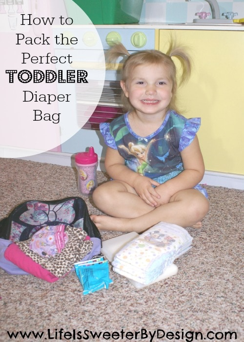 Toddler Diaper Bag with Huggies