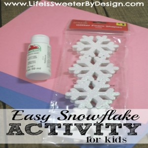 Snowflake Song and Snowflake Activity for Kids