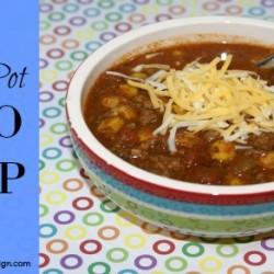 Easy Crock Pot Taco Soup