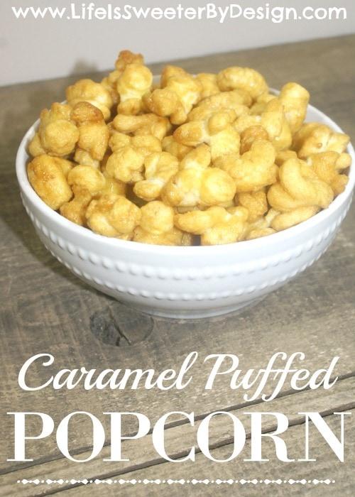 Caramel Puffed Popcorn