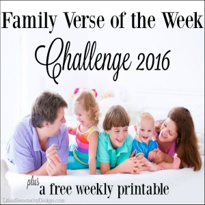 Family Verse of the Week Challenge