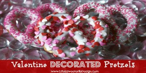Decorated Valentine Pretzels