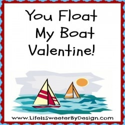 You Float My Boat Valentine