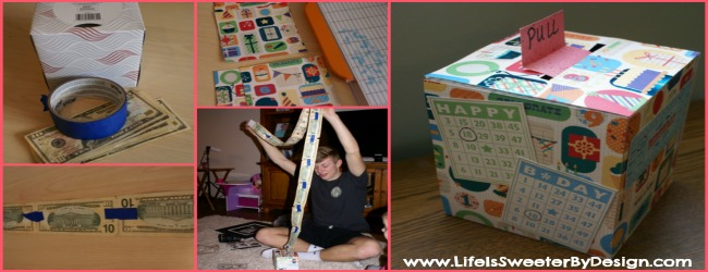 Fun Way to Give Birthday Cash Gift Using a Tissue Box