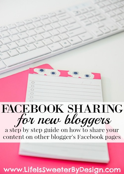 Facebook sharing for new bloggers