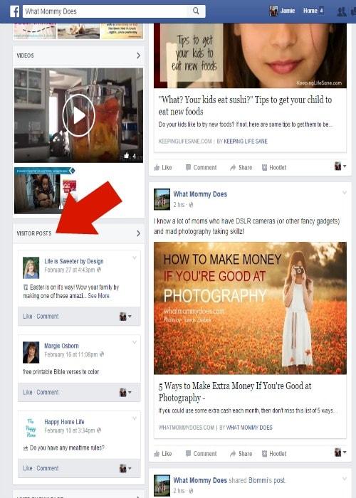 Facebook sharing