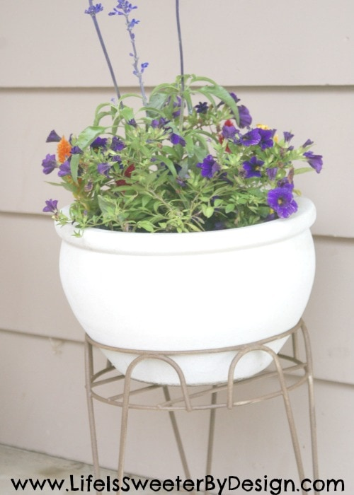 easy planter makeover