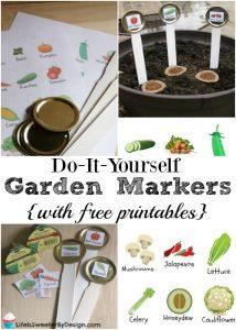 DIY Garden Marker Stakes for Kids