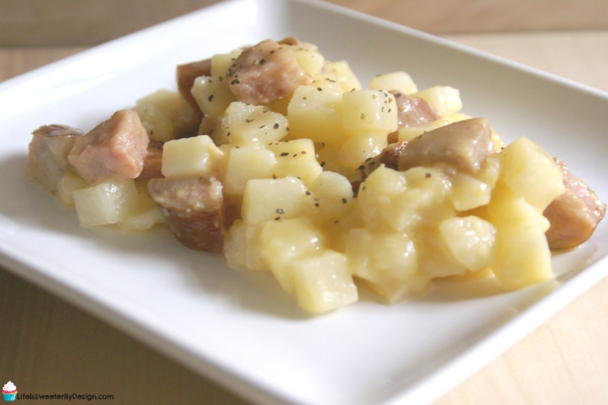 Smoked Sausage and Potato Casserole in the Slow Cooker ...