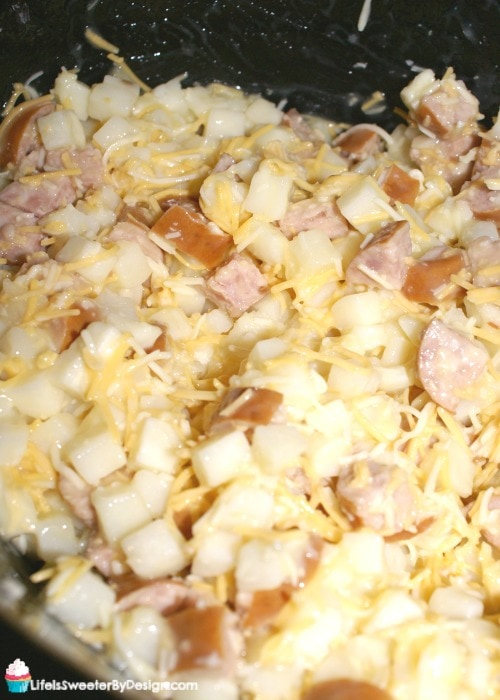 smoked sausage and potato casserole