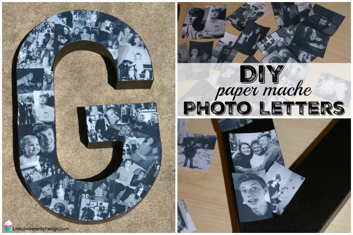 DIY paper mache photo letters | DIY - Muttertag ...