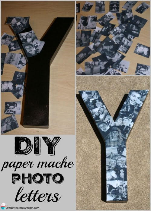 how to make diy paper mache photo letters life is