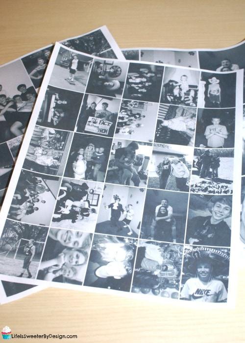 DIY Paper Mache Photo Letters