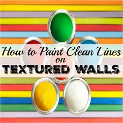 how to paint clean lines on textured walls