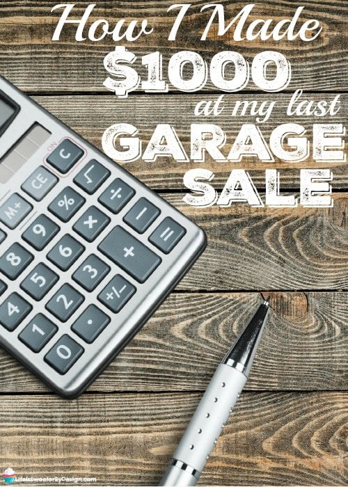 tips that helped me make 1000 at my garage sale