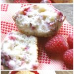 Raspberry Cream Cheese Muffins are perfect for breakfast or a snack! Fresh fruit muffins are a light, fluffy and delicious recipe! #ScrubCloth #ad