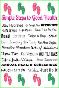 Simple Steps to Good Health