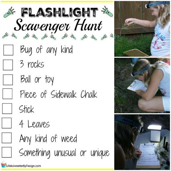 flashlight scavenger hunt