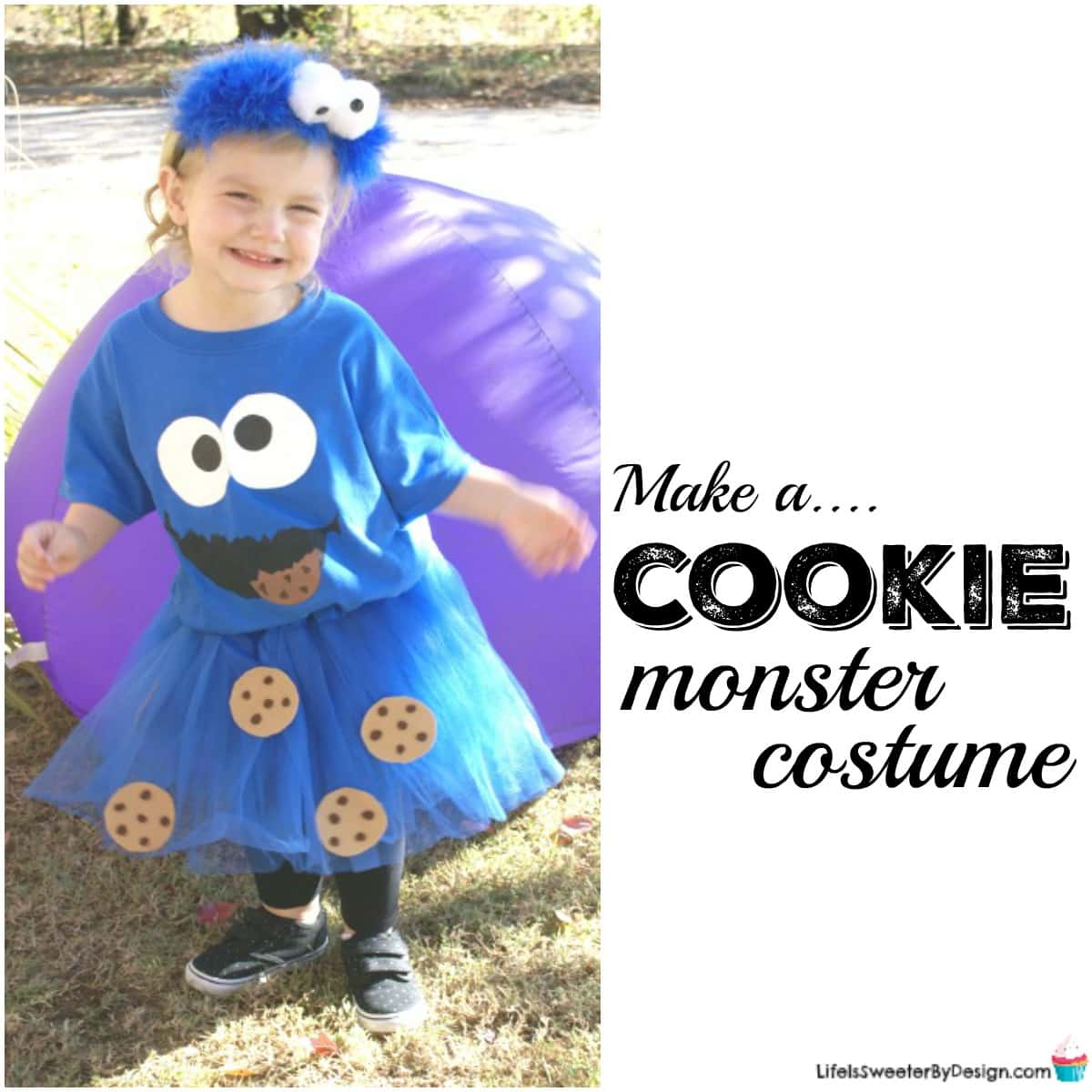 sc 1 st  Life is Sweeter By Design & How to Make a Cookie Monster Costume - Life is Sweeter By Design