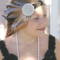 flapper girl headband