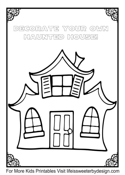 design your own haunted house. free Halloween printables Free Printables  Life is Sweeter By Design