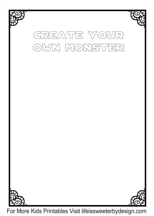 Free halloween printables life is sweeter by design - Design your own home for kids ...
