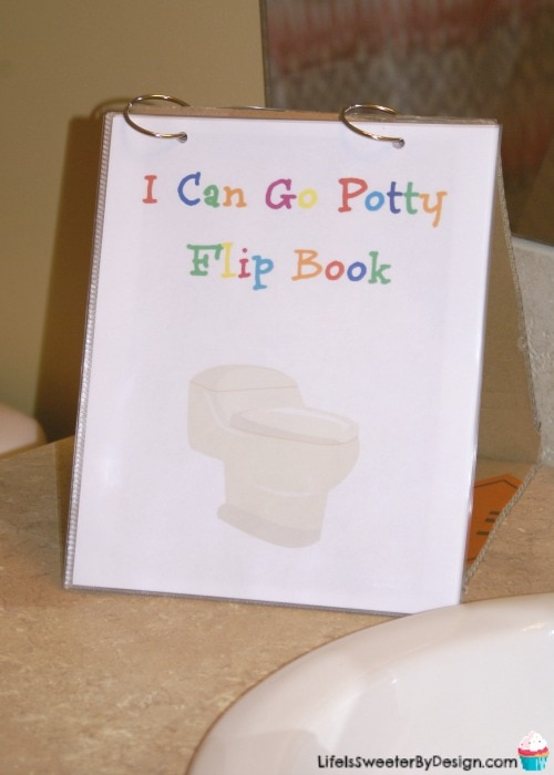 potty training flip book