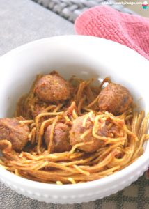 Pressure Cooker Spaghetti and Meatballs