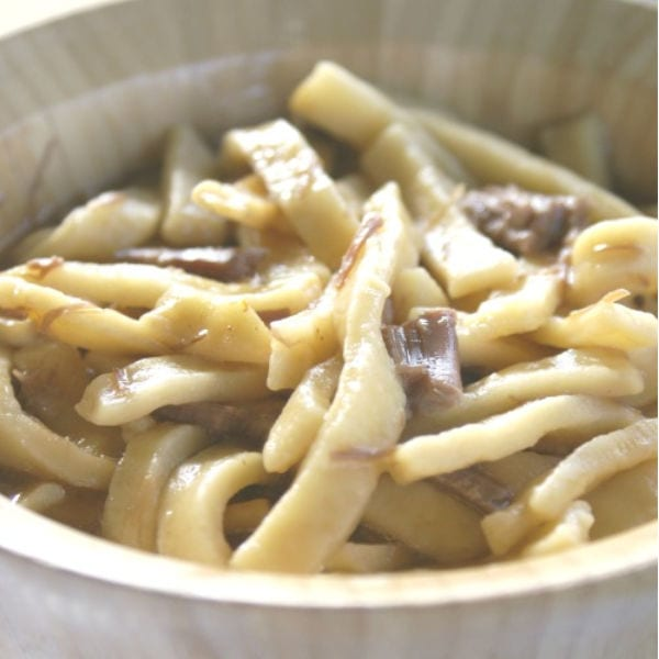 three ingredient beef and noodles