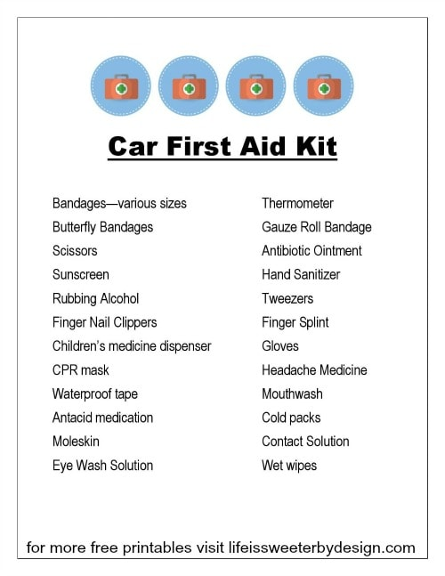 How My Car First Aid Kit Saved The Night Life Is Sweeter