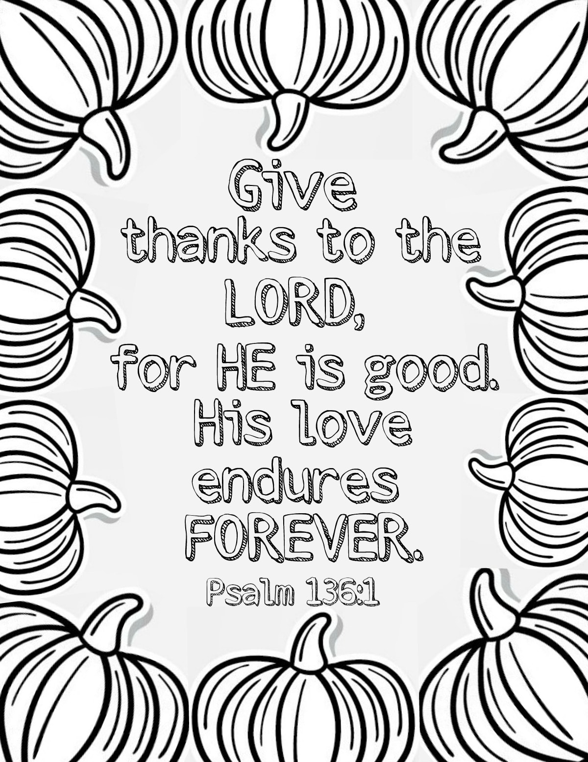 bible coloring pages thankfulness - photo#10