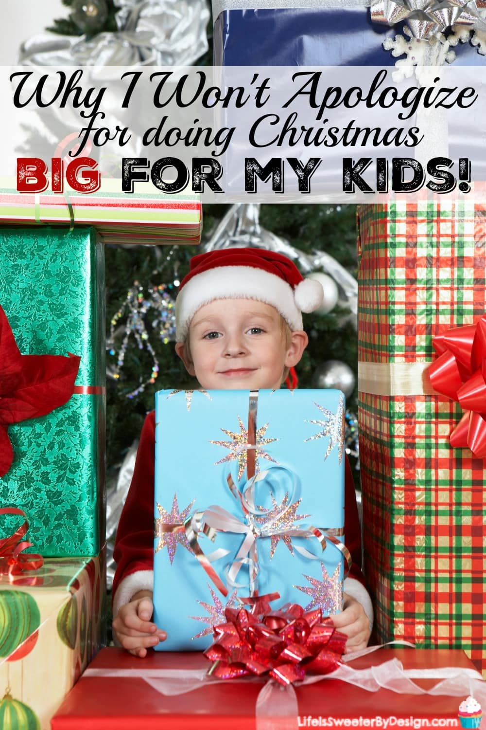 Find out why I won't apologize for doing Christmas big for my kids! I won't let the mommy wars impact how many gifts my children get for Christmas!