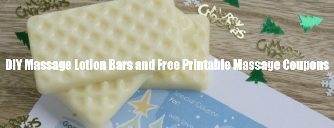 Homemade Massage Lotion Bars