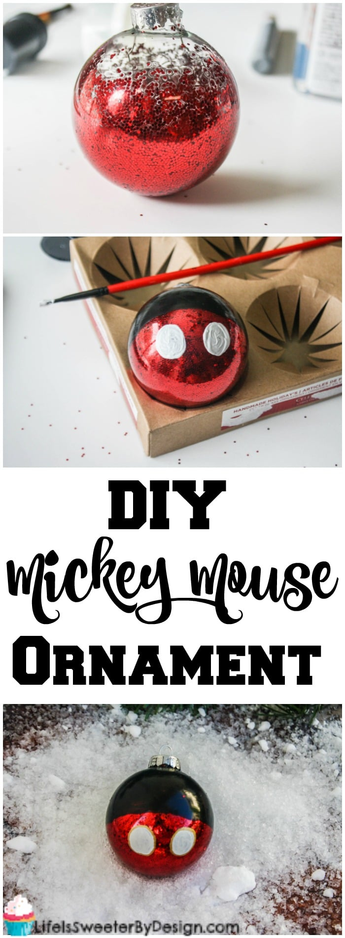 Diy Mickey Mouse Christmas Ornament Life Is Sweeter By Design