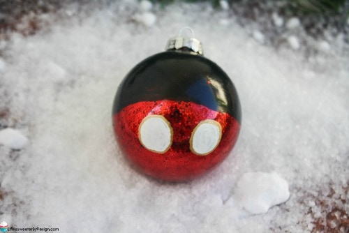 DIY Mickey Mouse Christmas Ornament
