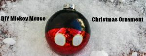 DIY Mickey Mouse Christmas Ornament