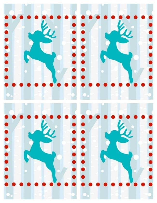 reindeer poop cookies gift tags