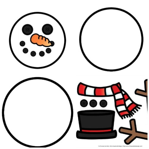 graphic about Free Printable Snowman known as Establish a Snowman Totally free Printables - Everyday living is Sweeter Through Structure