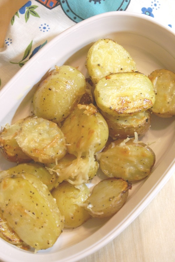 roasted garlic Parmesan Baby Potatoes