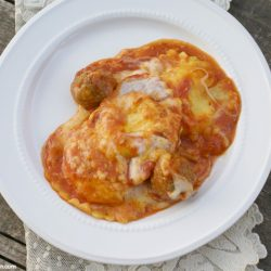 ravioli and meatball casserole